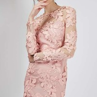 Long Sleeve Applique Mini Dress - New In Dresses - New In