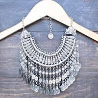 Antalya Turkish Coin Grand Necklace in Silver