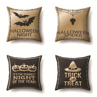 Happy Halloween 45cm*45cm Pillow Cases Happy Fall Skull Pumpkin Sofa Cushion Cover Home Decor