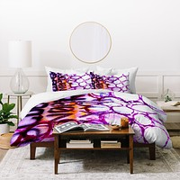 Sophia Buddenhagen Purple Circles Duvet Cover