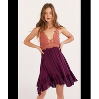 Adella Slip Dress, Copper