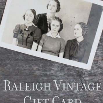 Raleigh Vintage Gift Card