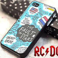 Fault Our Stars Design - for iPhone 4/4s/5/5s/5c - iPod 2/4/5 - Samsung Galaxy s2/s3/s4/s5 Case