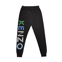 KENZO autumn and winter fashion casual loose beam foot closing letter printed pants