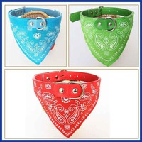 7 Colors 4 Size Adjustable Dog Collar Puppy Scarf Collar for Dogs Bandana Neckerchief Paisley Pattern Pet Accessories