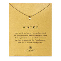 """Gold Dipped 16"""" Sister Teeny Angel Wings Necklace"""