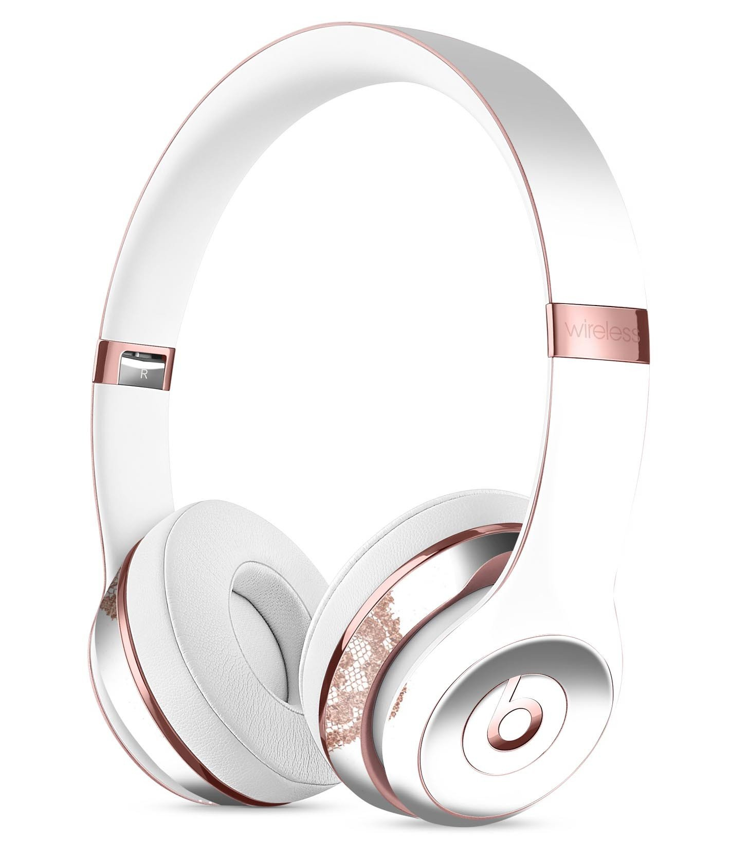 Image of Rose Gold Lace Pattern 12 Full-Body Skin Kit for the Beats by Dre Solo 3 Wireless Headphones