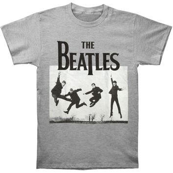 Beatles Men's  Jump Photo Heather T-shirt Heather