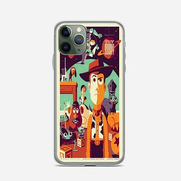 Toys Story Woody Film Art Disney Poster iPhone 11 Pro Max Case