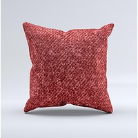 Red Fabric Ink-Fuzed Decorative Throw Pillow