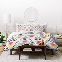 Elisabeth Fredriksson Triangles In Triangles Duvet Cover