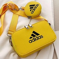 Adidas New fashion letter print leather waist bag shoulder bag crossbody bag Yellow