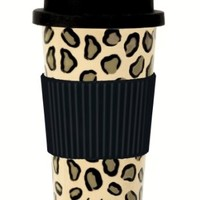 C.R. Gibson Lolita Porcelain To Go Cup, Leopard:Amazon:Kitchen & Dining