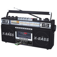 QFX AM-FM-SW1-SW2 4 Band Radio and Cassette to MP3 Converter, and Recorder with USB-SD-MP3 Player
