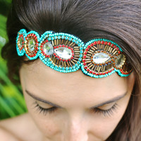 One Tribe Headband in Turquoise