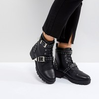 Truffle Collection Studded Strap Hiker Boot at asos.com