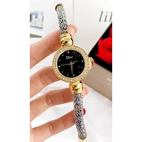 Dior new tide brand female models simple wild quartz watch #2