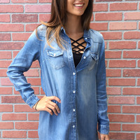 Lose My Mind Dress - Denim