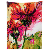 Ginette Fine Art Crazy Wildflowers Tapestry