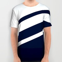 Wooden Navy All Over Print Shirt by Nicklas Gustafsson