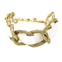 House of Harlow 1960 Jewelry Engraved Link Bracelet