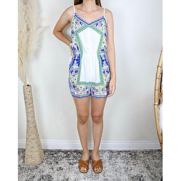 Final Sale - Spring into Summer Romper in Ivory