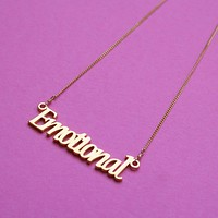 Emotional Nameplate Necklace