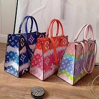 Louis Vuitton LV Handbag Gardient Could Square bag Colorful Big Shopping Bag
