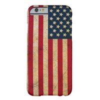 Vintage Grunge American Flag Barely There iPhone 6 Case