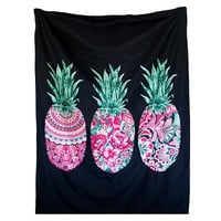 Boho Pineapple Wall Tapestries