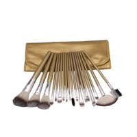 18pcs Golden Professional Cosmetic Makeup Make up Brush Brushes Set Kit with Case Bag Pouch:Amazon:Beauty