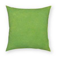"Solid Tropical Green 18""x18"" Artistic Throw Pillow"