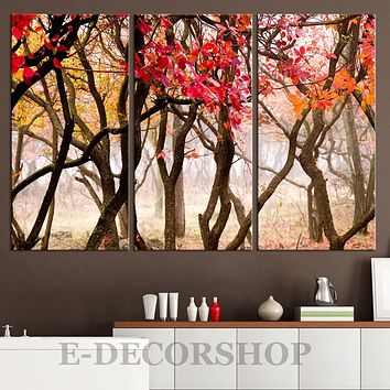 Large Wall Art Autumn Forest Canvas Print Tree Branches Canvas Painting Tree Branches Canvas