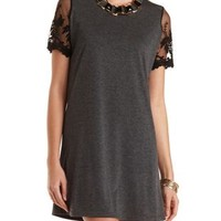 Lace Sleeve T-Shirt Dress by Charlotte Russe