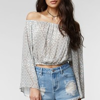 Kendall & Kylie High Waisted Boxy Embroidered Pocket Cut-off Shorts - Womens Shorts - Blue -