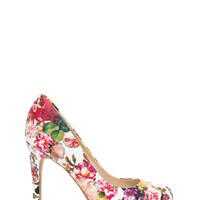 We're So Pumped Floral Print Heels