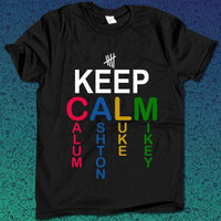 keep calm 5 second of summer for T Shirt Mens and T Shirt Girls
