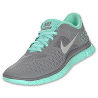 Nike Free Run+ 4.0 Women's Running Shoes| FinishLine.com | Cool Grey/Silver/Tropical Twist