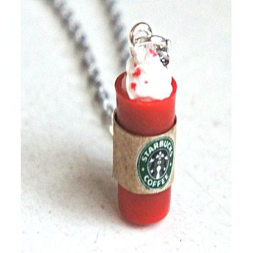 Starbucks Red Cup Necklace