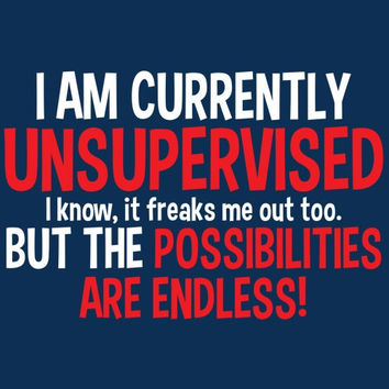Im Currently Unsupervised Tshirt. Great Printed Tshirt For Ladies Mens Style All Sizes And Colors Great Ideas For Xmas Gifts.