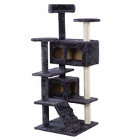 New Cat Tree Tower Condo Furniture Scratch Post Kitty Pet House Play Gray  	PS5791GR