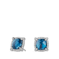 Chatelaine Pave Bezel Stud Earring with Diamonds, 9mm