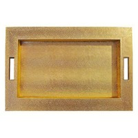 Hollywood Deco Gold Snake Embossed Tray