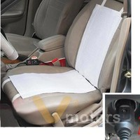 4pc Universal 12V Cotton Fiber Winter Heated Seat Heater Heating Cover Pad Mat Warmer Kit With Car Cigarette Switch For Sedan Coupe Vehicle