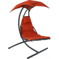 Sunnydaze Decor Red Floating Chaise Lounge Chair with Stand