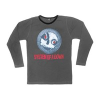 System Of A Down Men's  Skull Thermal  Long Sleeve Grey