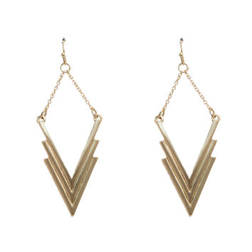 Hard Edge Earrings In Gold