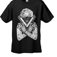 Marilyn Monroe 'Gangster' Men's Black T-Shirt