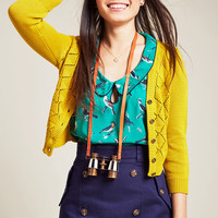 Adored Addition Cardigan in Goldenrod | Mod Retro Vintage Sweaters | ModCloth.com