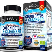 Colon Cleanser & Detox for Weight Loss. 15 Day Extra Strength Detox Cleanse with Probiotic for Constipation Relief....